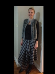 My lovely sisterinlaw in her Japan skirt