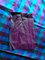 Silk fabric with contrast for pockets