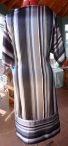 Satin stripe back