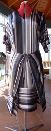 satin dress front
