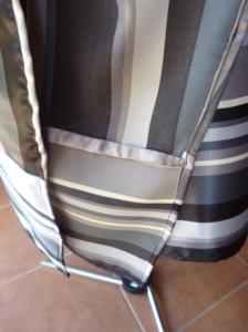 satin dress inside detail
