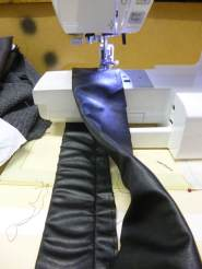 Walking foot to sew PVC